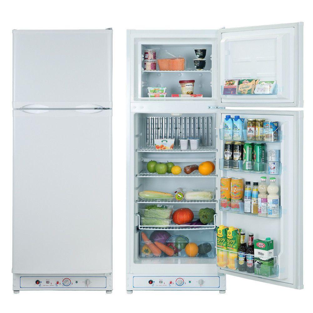 255QT 110V Propane Refrigerator Freezer LP Gas AC Cooler