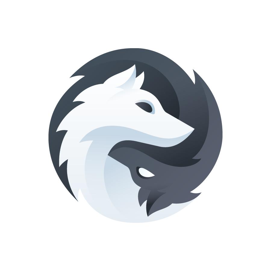 Black And White Wolf Logo Design By Larkef Selected For Logolounge Book 11 Logos Logo Branding Design Wolf Wolves Pet Logo Design Art Logo Animal Logo