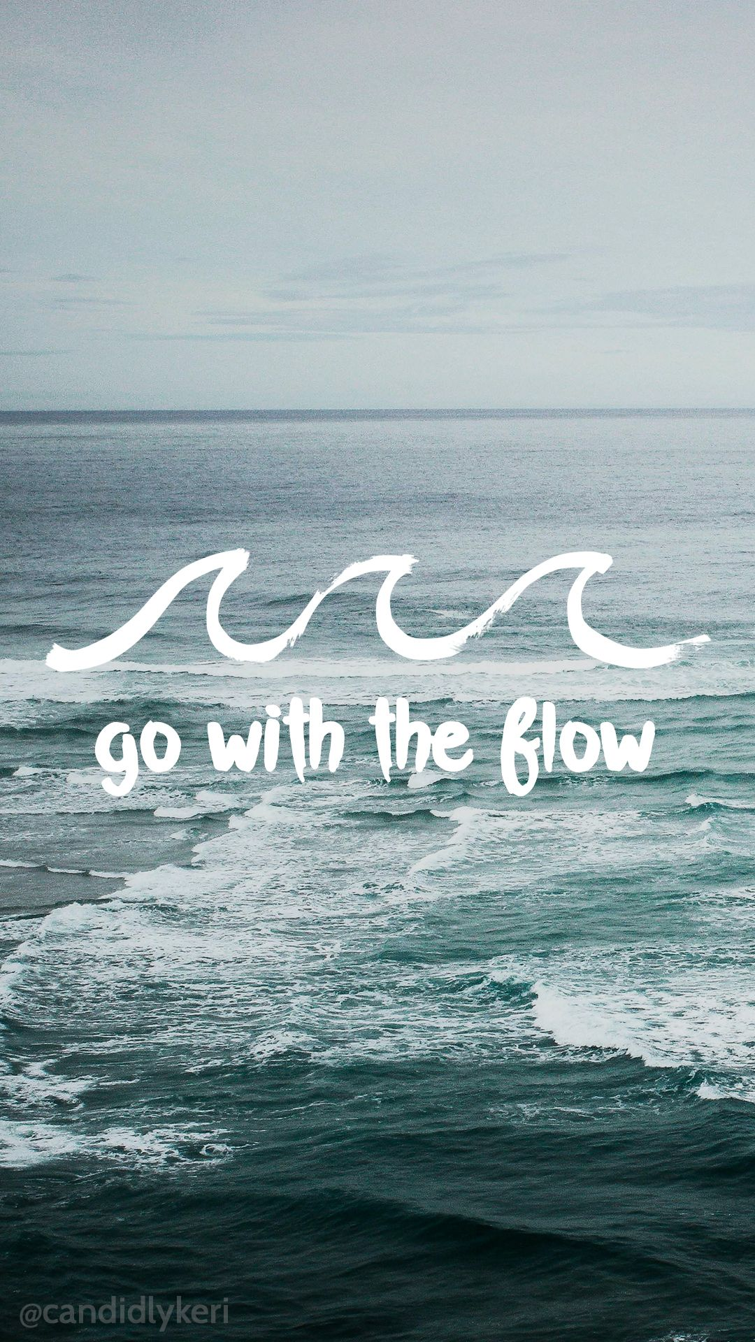 Go with the Flow water waves motivational wallpaper 2016