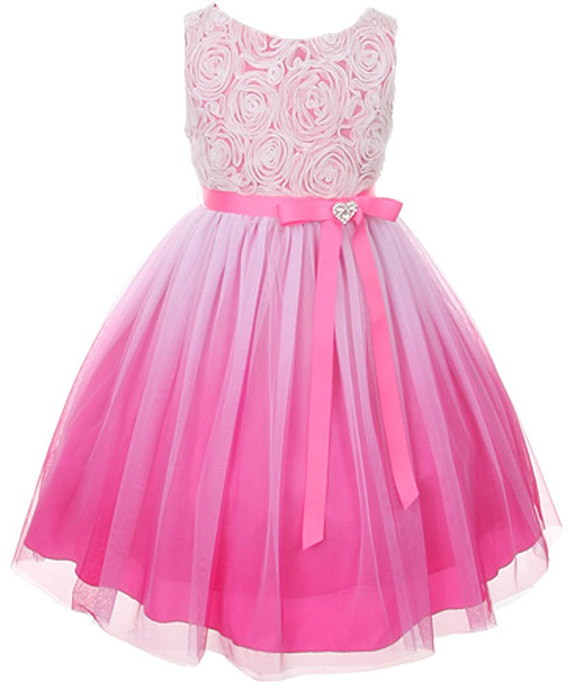 Tulle Rosette Spring Easter Flower Girl Dress - Sears | Kerala ...