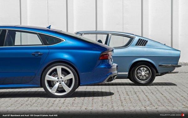 Visual Comparison New Audi S7 And The 100 S Coupe Fourtitude Com Audi 100 Audi 100 Coupe S Car Photos