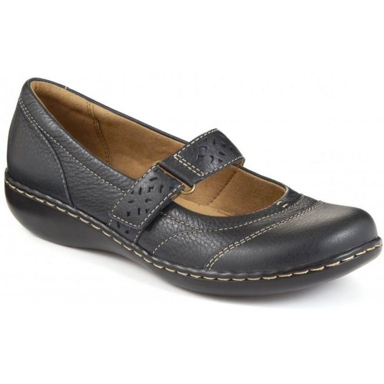 cheaper 3b832 4d95e Clarks £39 embrace lux leather navy or black | moneymaker ...