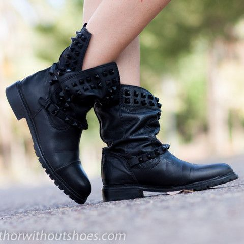 Love these studded boots