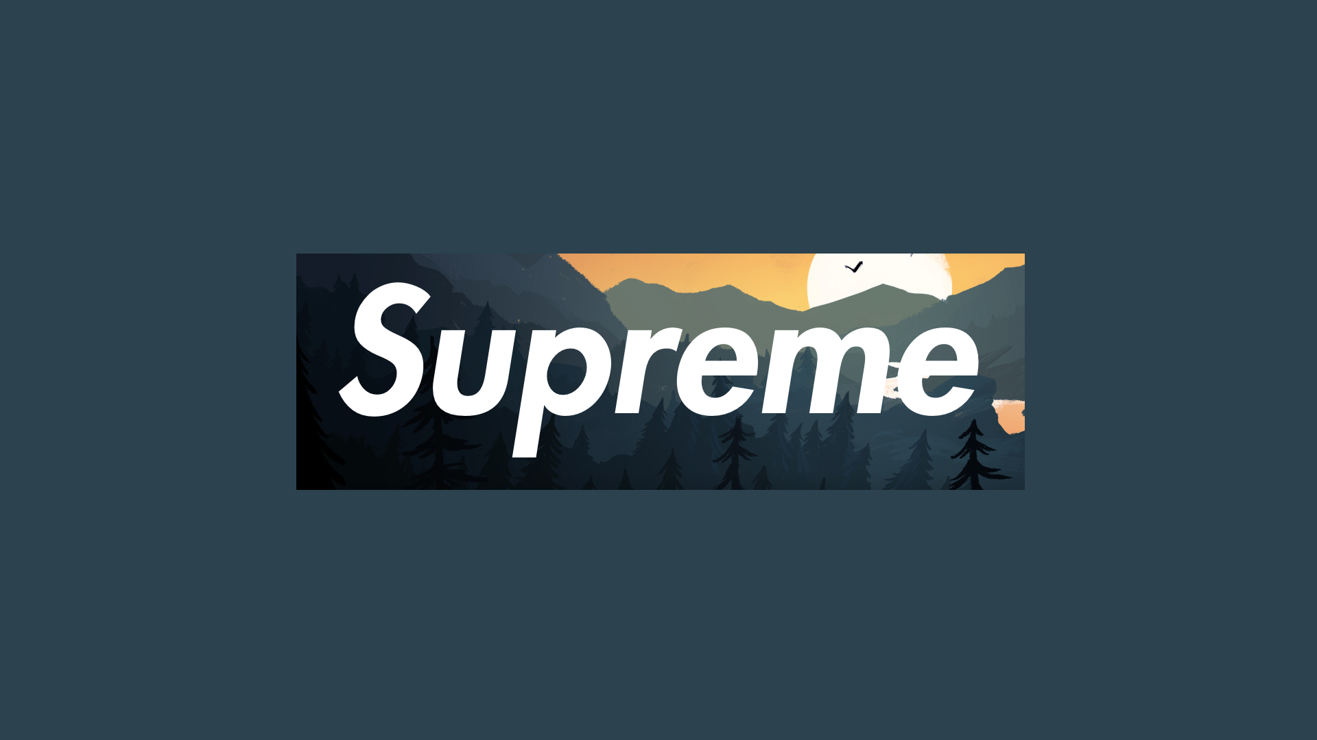 Supreme x firewatch 1920x1080
