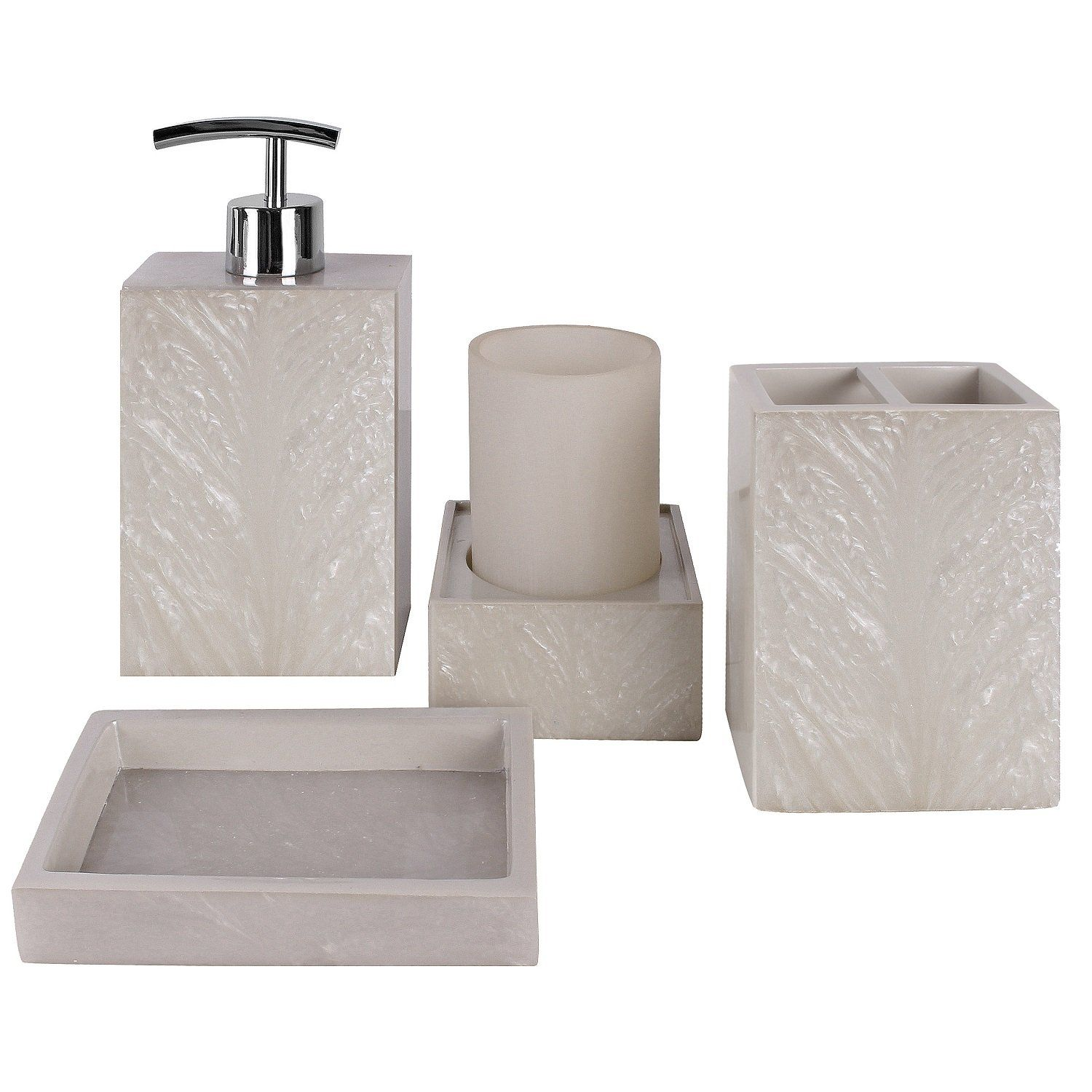 Amazon Com Creative Scents Milano Bath Ensemble 4 Piece Bathroom