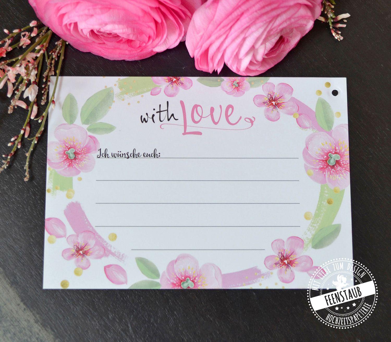 Luftballonkarten Hochzeit Rosa Blumen Feenstaub At Shop Wunsche Fur Das Brautpaar Hochzeit Brauche Hochzeitsbrauche