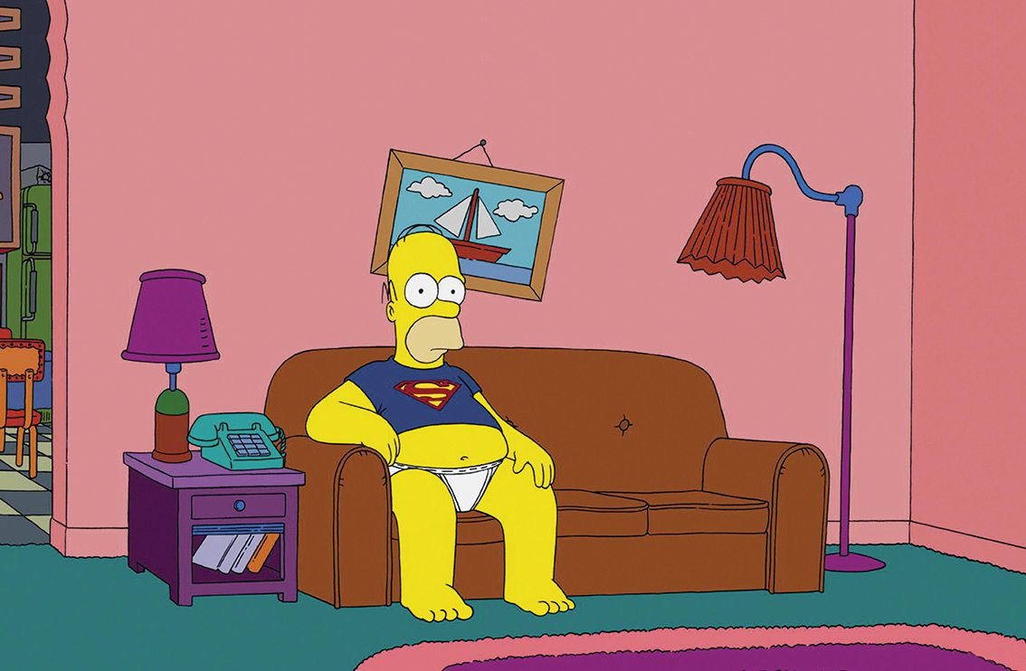 Homer Simpson On The Couch Tesis Homer Simpson The Simpsons