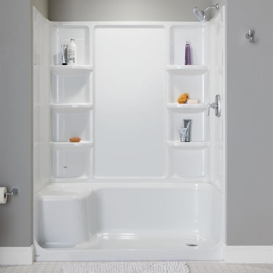 American Standard Elevate Arctic White Acrylic Shower Base 60 In