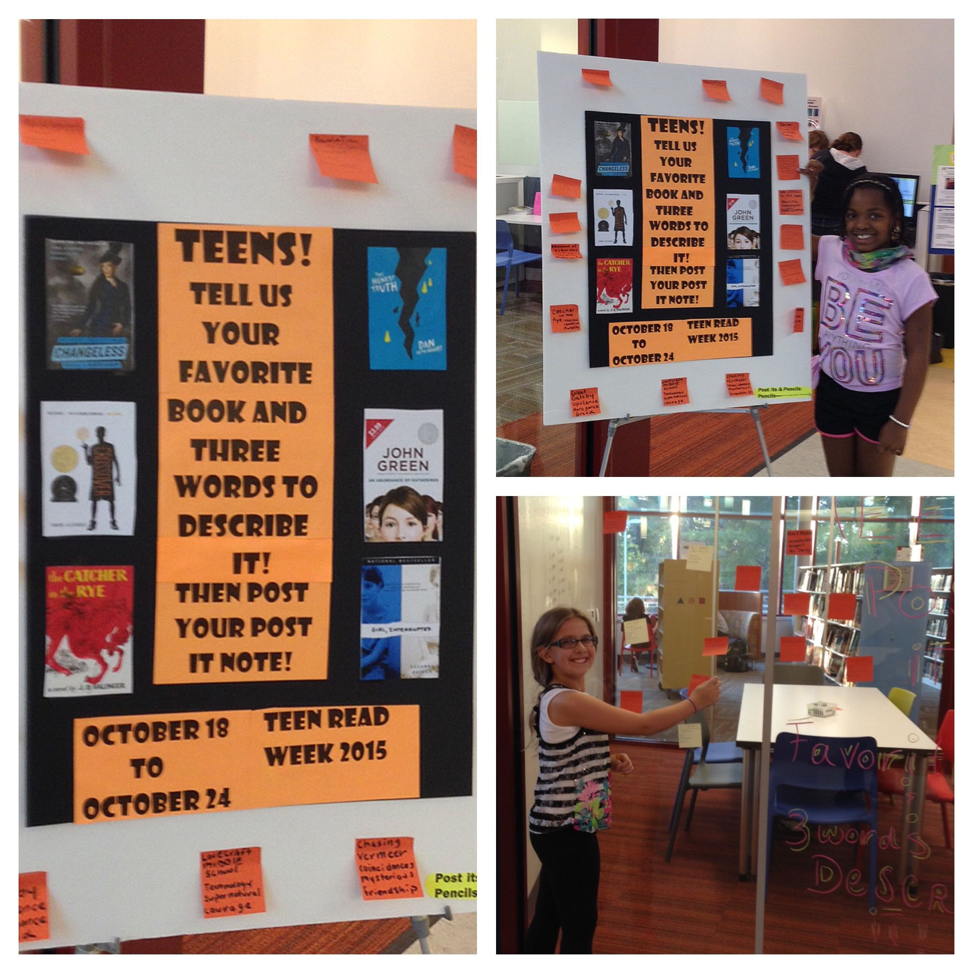 Teen Read Week Display At Olney Library With Teens
