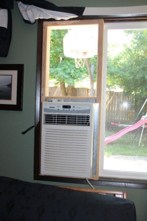 This is a guide about installing a window air conditioner