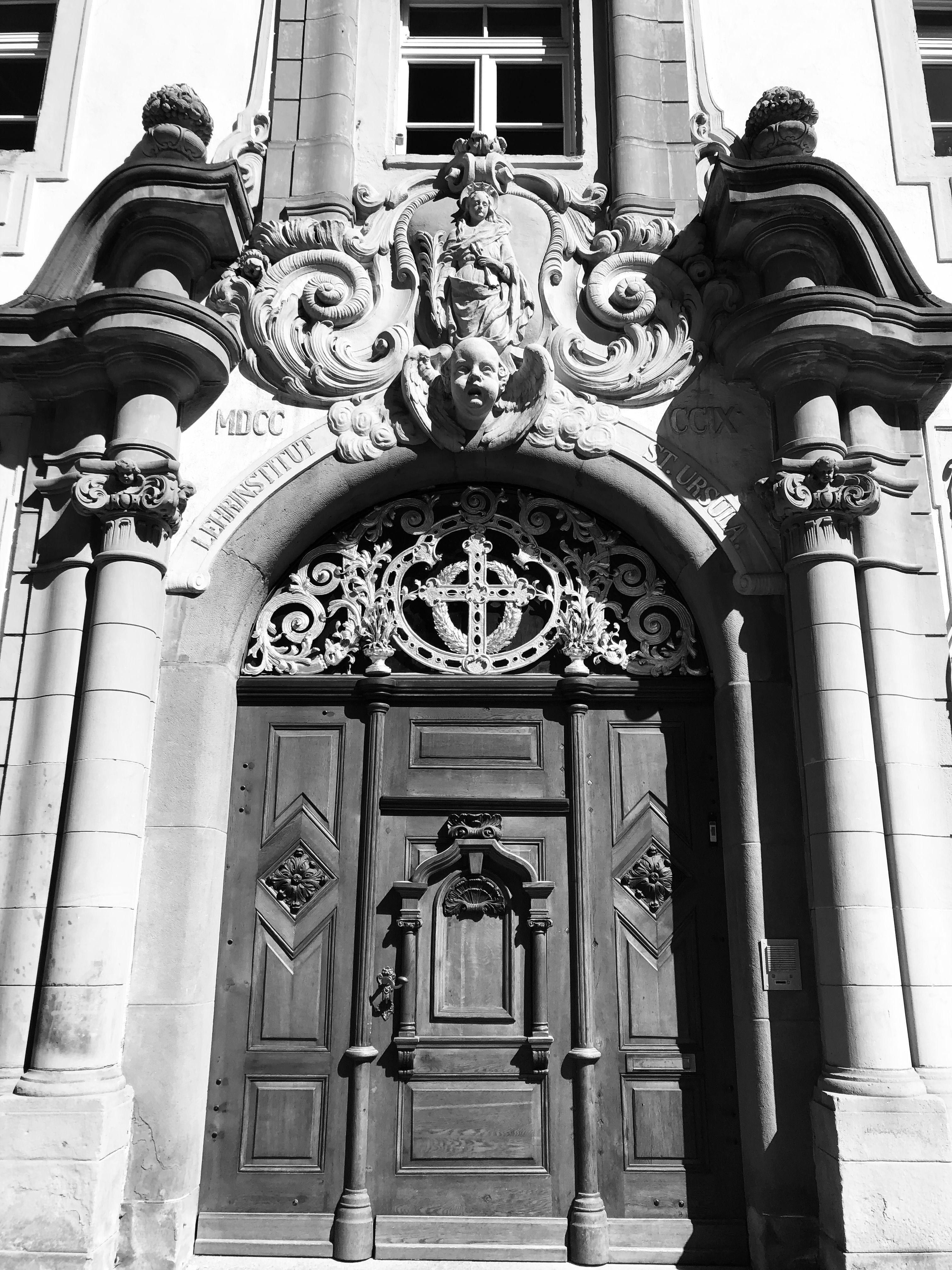 Saint Ursula Kloster front door Villingen, Germany Front