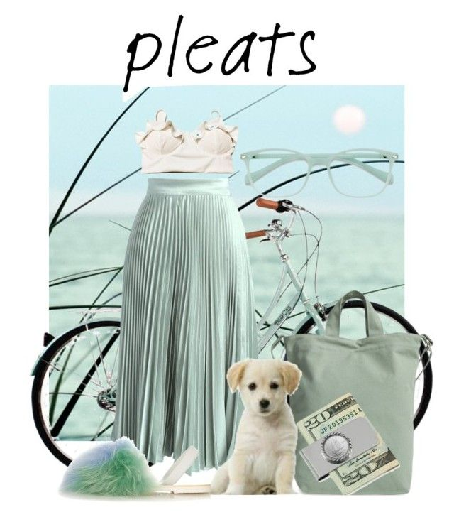 """""""Mint pleated skirt"""" by buddahbar on Polyvore featuring Chicwish, BAGGU, del Rio London and EyeBuyDirect.com"""