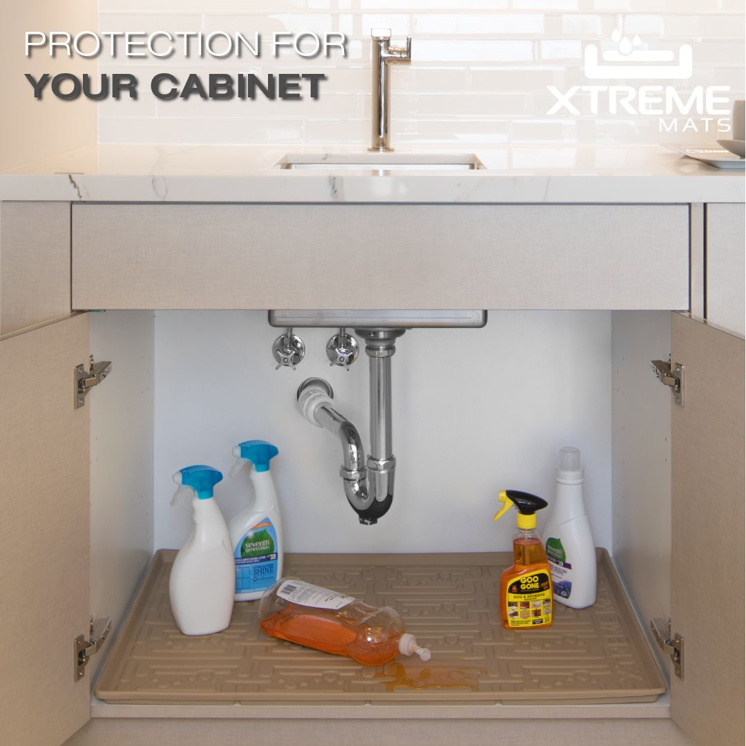 Under Sink Cabinet Mat Protects Against Plumbing Leaks And Product
