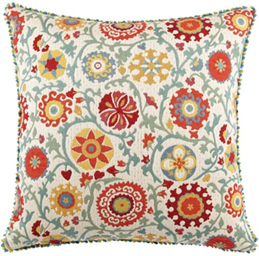 Elaine Smith Pillows Acapulco Suzani Floral   20 Inch. X 20 Inch.   QE1