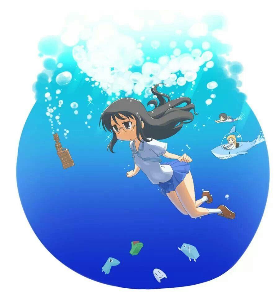 Nichijou art really cool drawings anime