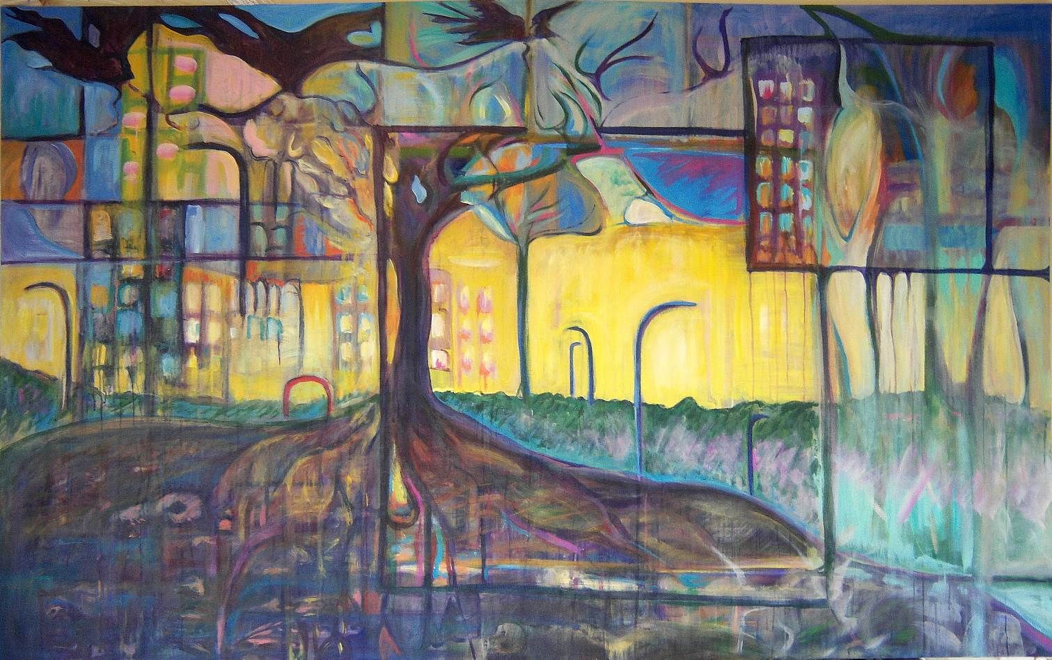 """""""The Cities Of The Old Will Fall And The New Cities Will Rise"""" by Kaya Murray, a Vancouver artist"""