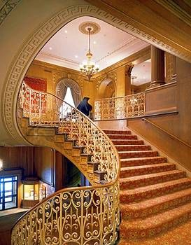 Staircase Down To Spanish Foyer Fairmont Olympic Hotel Seattle Always Loved Visiting At Christmas