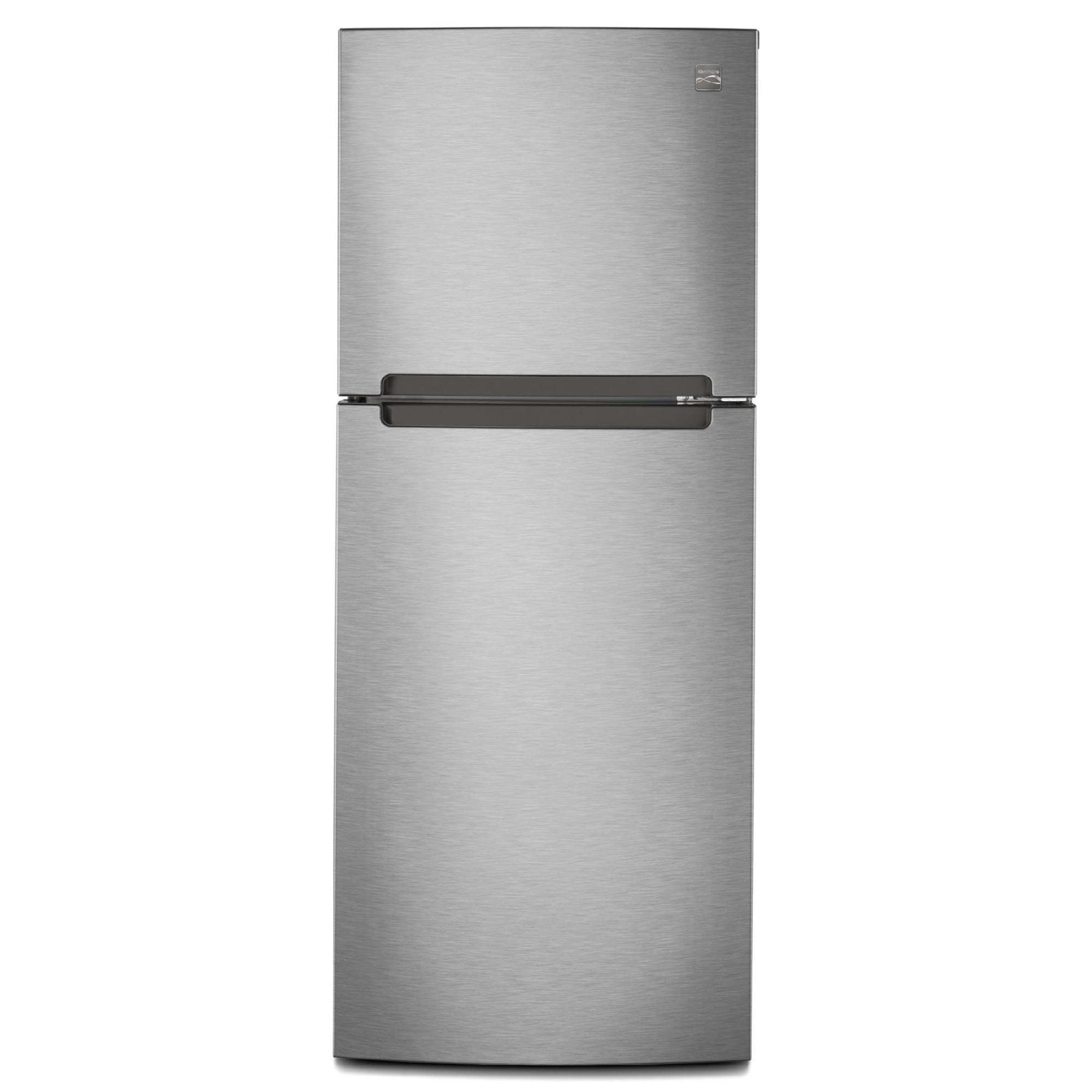Kenmore 76393 76393 10 7 Cu Ft Top Freezer Refrigerator W Humidity Controlled Crisper Stainless In 2020 Refrigerator Top Freezer Refrigerator Compact Fridge