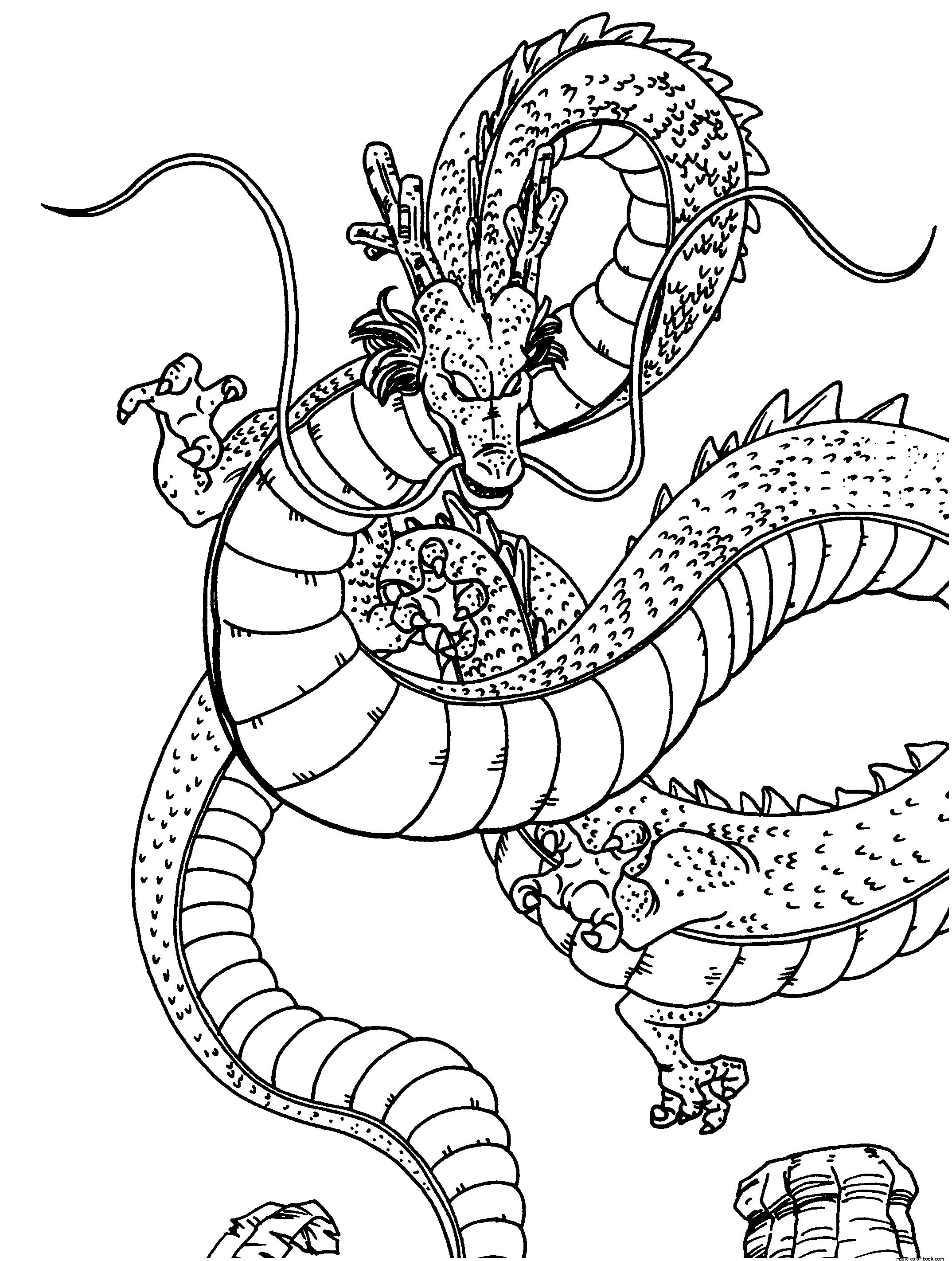 Magic image inside dragon ball z coloring pages printable