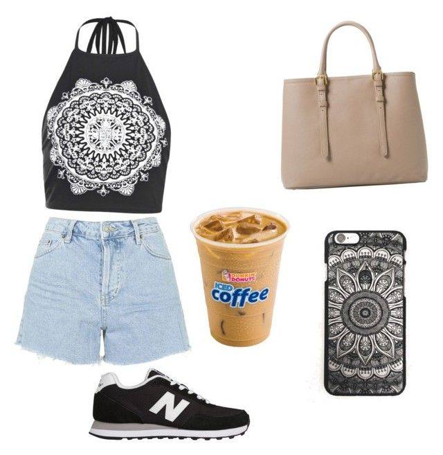 """Geen titel #7"" by xoirisjeexo on Polyvore featuring mode, Boohoo, Topshop, New Balance en MANGO"