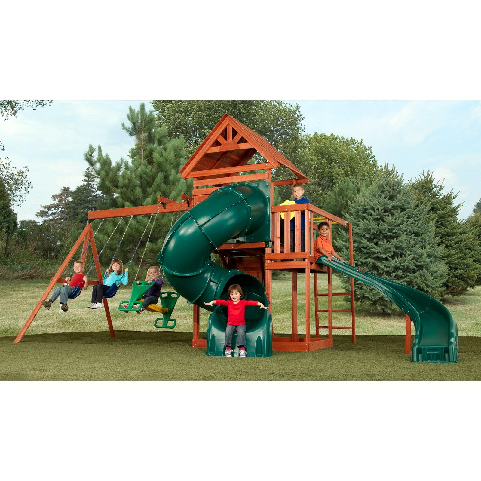Swing N Slide Grandview Twist Wood Swing Set PB 8272T