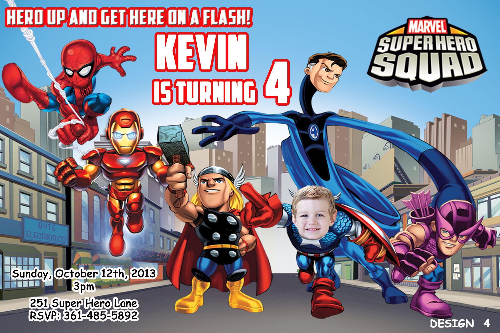 Super Heroes Squad Birthday Invitation $8.99 | Marvel Super Heroes ...