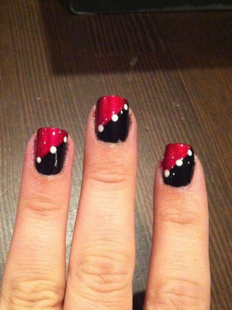 Red And Black Toe Nail Art Designs T4nnlomj