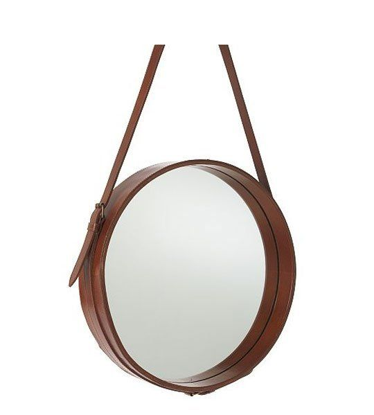 Current Obsession Round Bathroom Vanity Mirrors Leather Mirror Mirror Bathroom Vanity Mirror