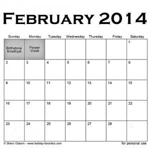 February Special Days Calendar With Images February Holidays