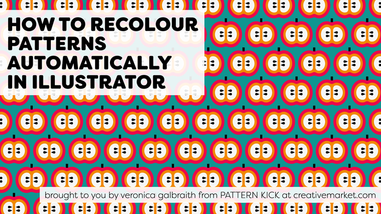 39 How To Recolour Patterns Automatically In Illustrator 39 Will Show You How To Easily Change The Colours Of Your Patterns With The 39 Recolor Artwork 3