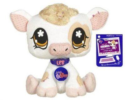 Amazon Com Littlest Pet Shop Vip Virtual Interactive Pet Plush Figure Cow Toys Games Littlest Pet Shop Pet Shop Lps Toys