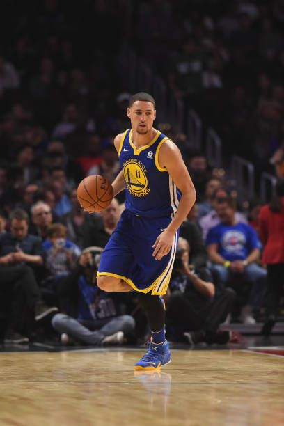 Klay Thompson Of The Golden State Warriors Handles The Ball Against The La Clippers On October Golden State Warriors Pictures Wardell Stephen Curry Basketball