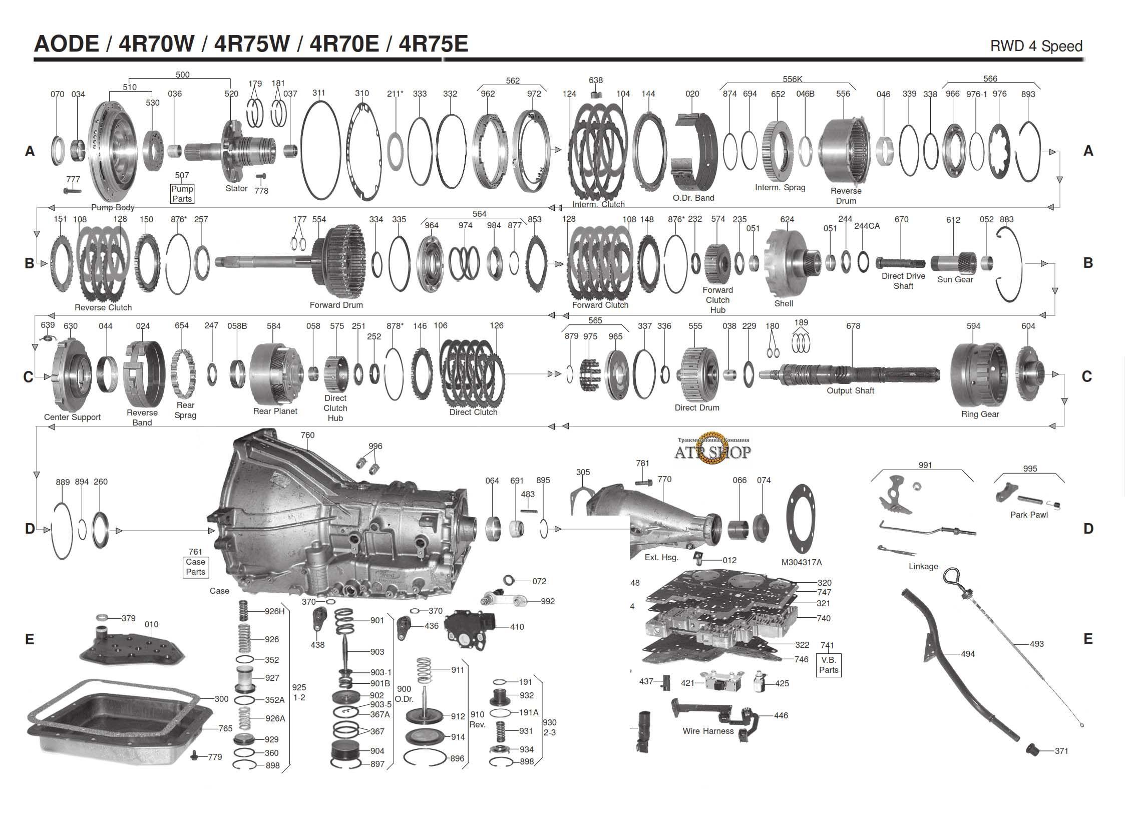 4r70w Transmission Repair Manuals Aod Manual Guide