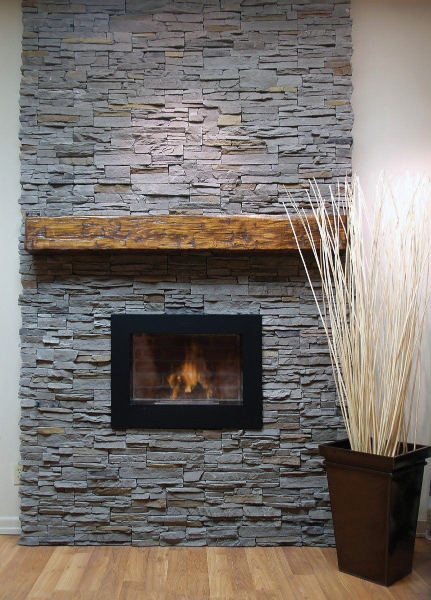 Gray Brick Fireplace Brick Fireplace Mantel For The Additional Decoration Place