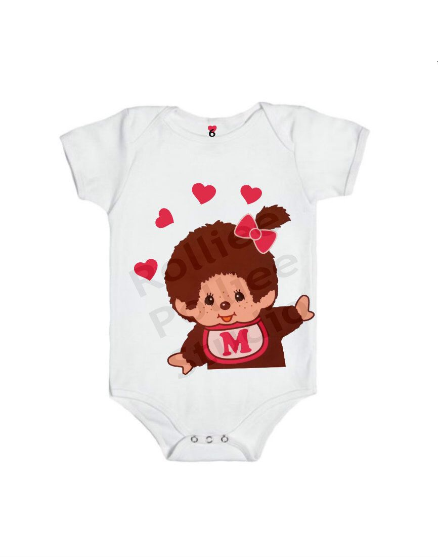 Monchichi Baby Girl Bodysuit by RollieePollieeStudio on Etsy https://www.etsy.com/listing/228234884/monchichi-baby-girl-bodysuit