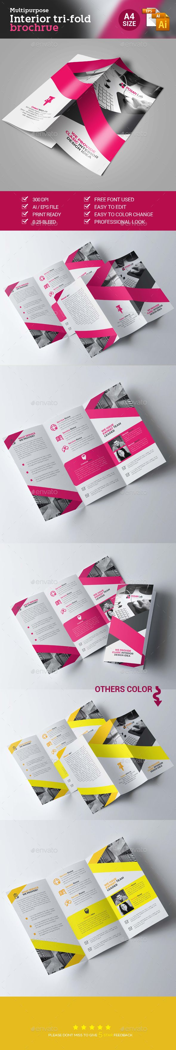 Corporate Business Trifold Brochure Template Vector EPS, AI #design Download: http://graphicriver.net/item/corporate-business-trifold-brochure/14139832?ref=ksioks