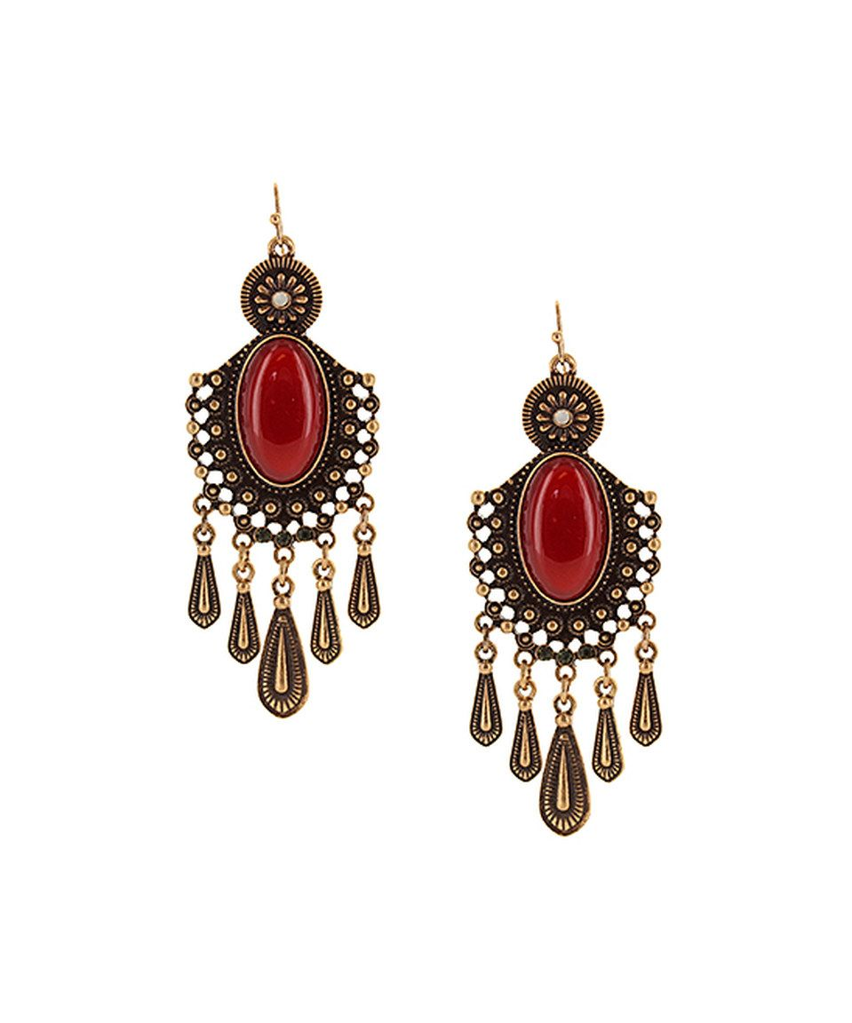 Burgundy gold oval chandelier earrings by sparkling sage zulily burgundy gold oval chandelier earrings by sparkling sage zulily arubaitofo Choice Image