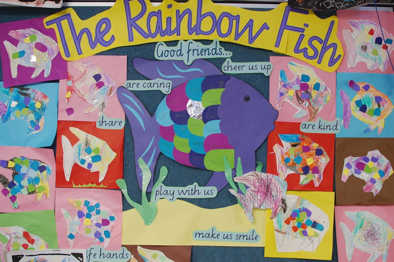 Rainbow Fish--friendship theme | Friendship theme ...