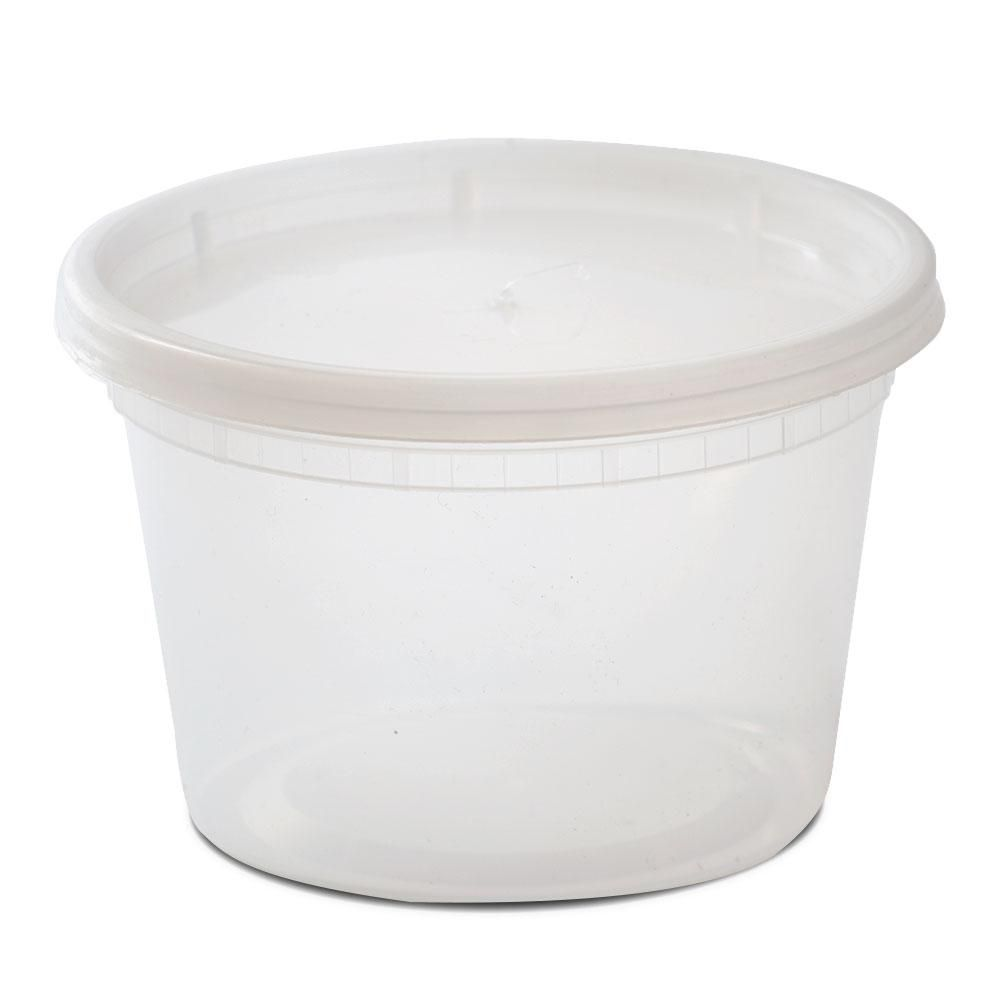 Microwavable Plastic Deli Container With Lid 240 Cs