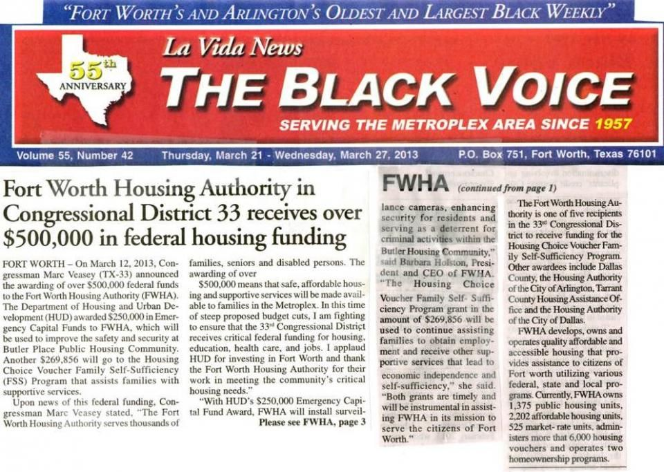 La Vida News The Black Voice Was Founded In 1957 By Mr Audrey Pruitt To Bring A Positive News Force To The African Ame Fort Worth Positive News Media Center