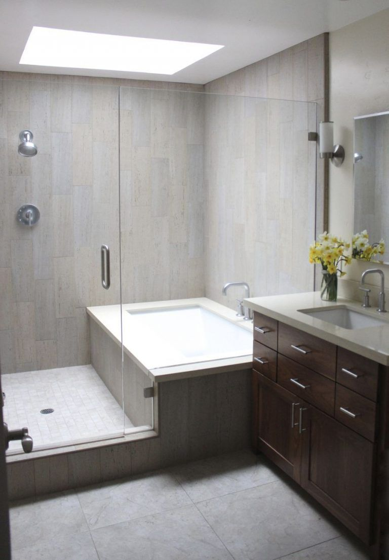 Combined Combination Bathroom Separate Shower Remodeling Small