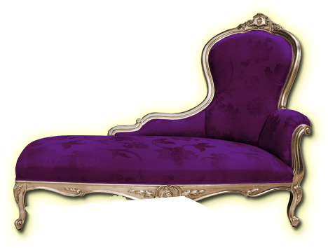 Another Purple Fainting Couch Be Still And Know That I