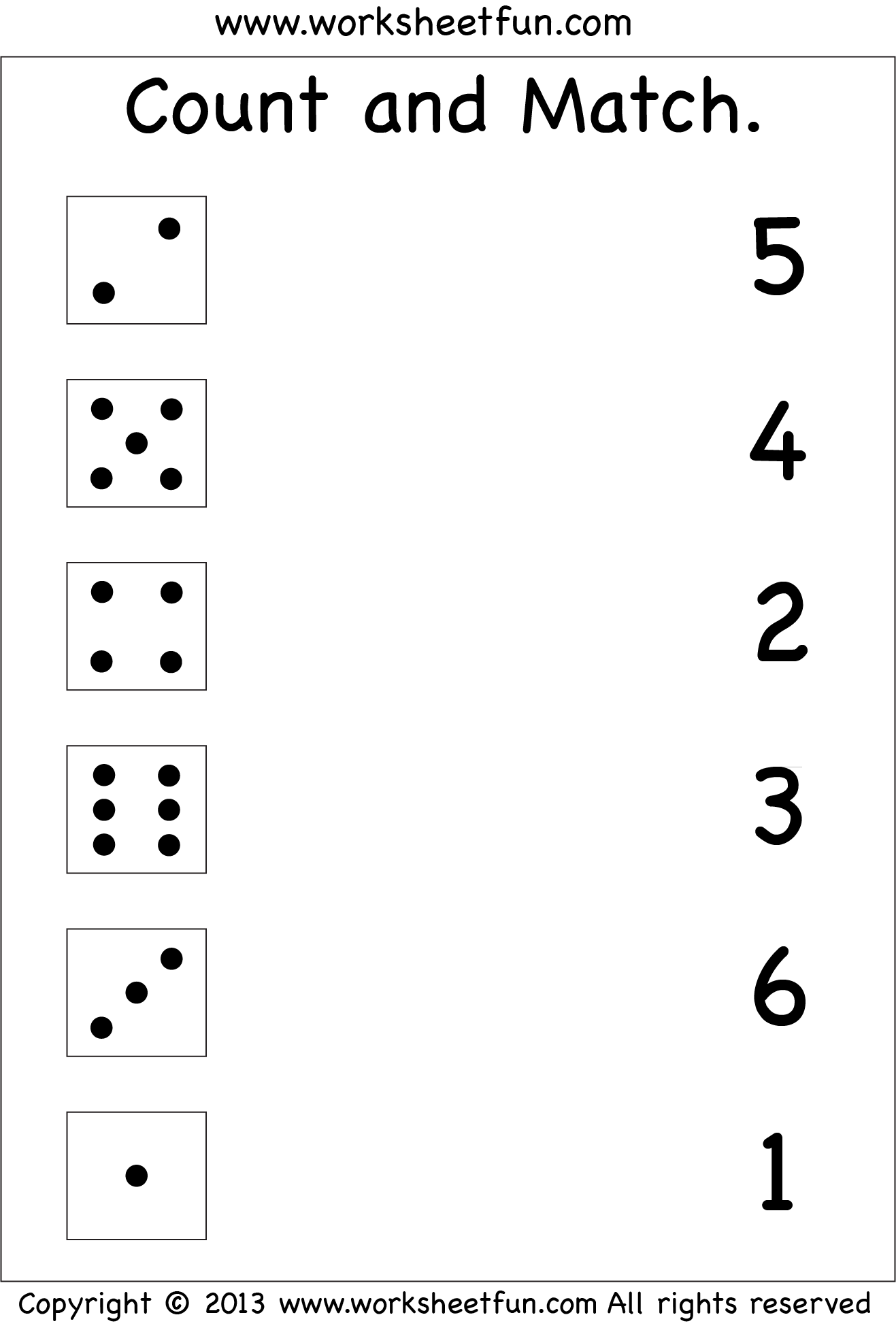 Numbers – Count and Match / FREE Printable Worksheets ...