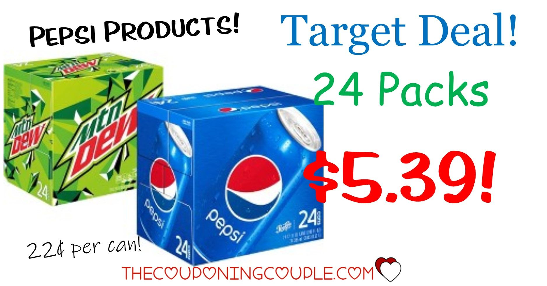 Stock Up Pepsi Products Soda Pop 24 Packs For Only 0 22 Per Can With Target Deal Soda Pop Soda Pepsi