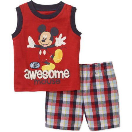 Size 0-3 Months Disney Mickey Mouse Stretchie Sleeper for Baby