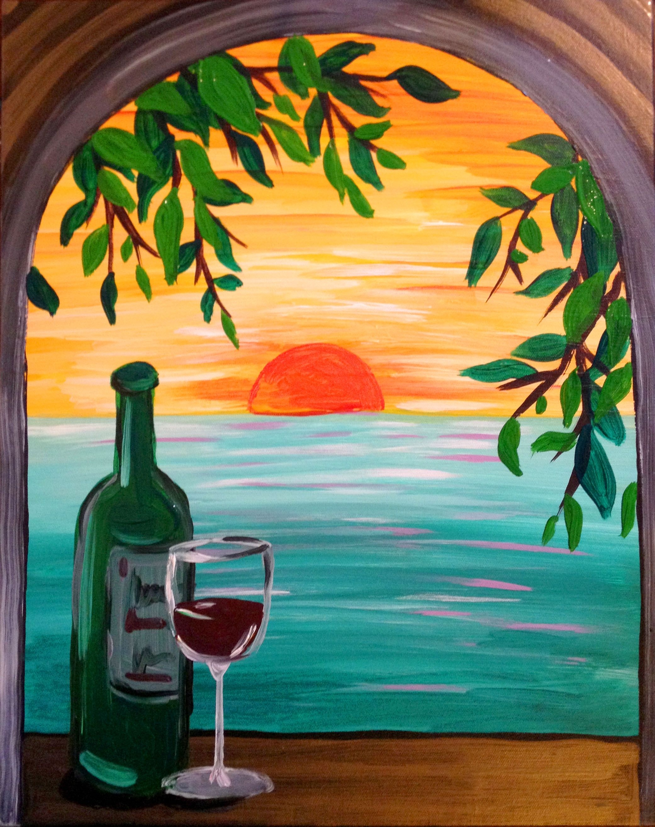 Paradise with a view large wine art pinterest for Paint and wine temecula