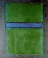 Green Divided by  Blue, 1968 - Acrylique sur papier marouflé sur toile