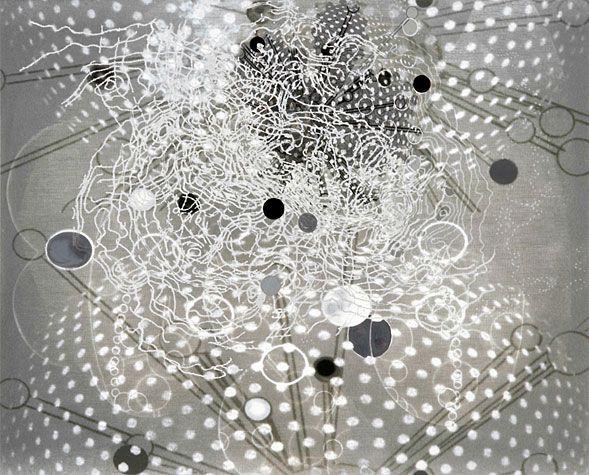 Barbara Robertson. Light Gray 5, 2010. Pigment print, acrylic. 18-1/2 x 23 inches.