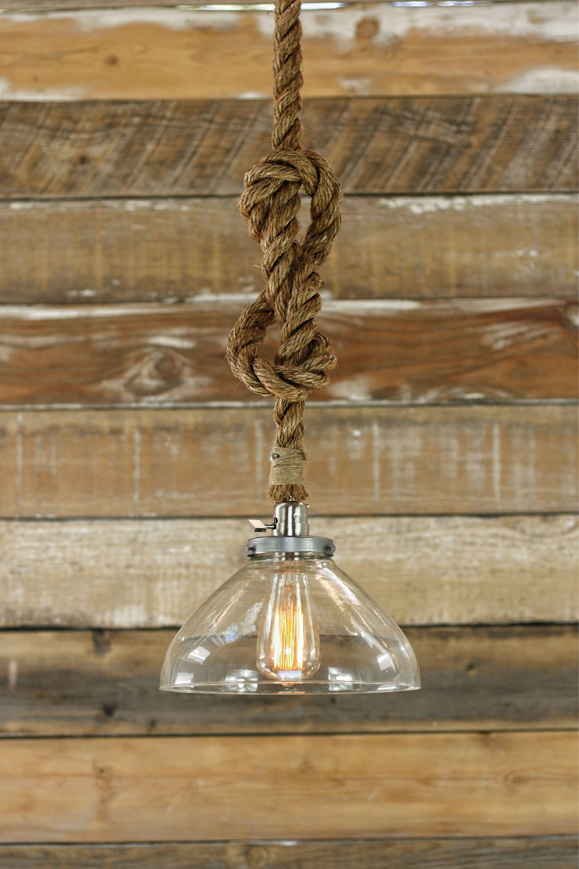 The Snowfall Pendant Light Industrial Rope Light Fixture