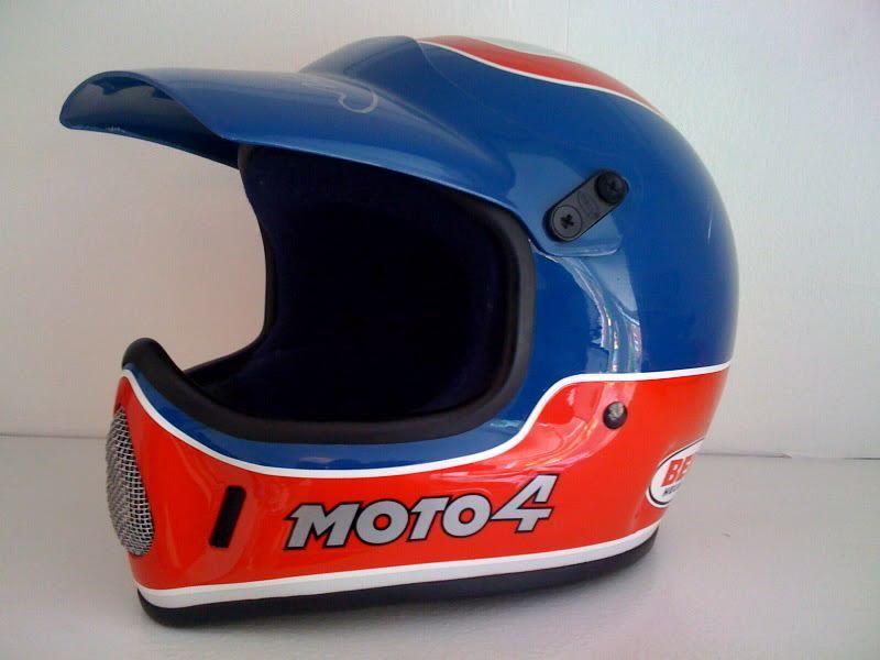 Nos Bell Moto 4 Rj Autographed Cafe Racer Helmet Motocross Helmets Bell Moto